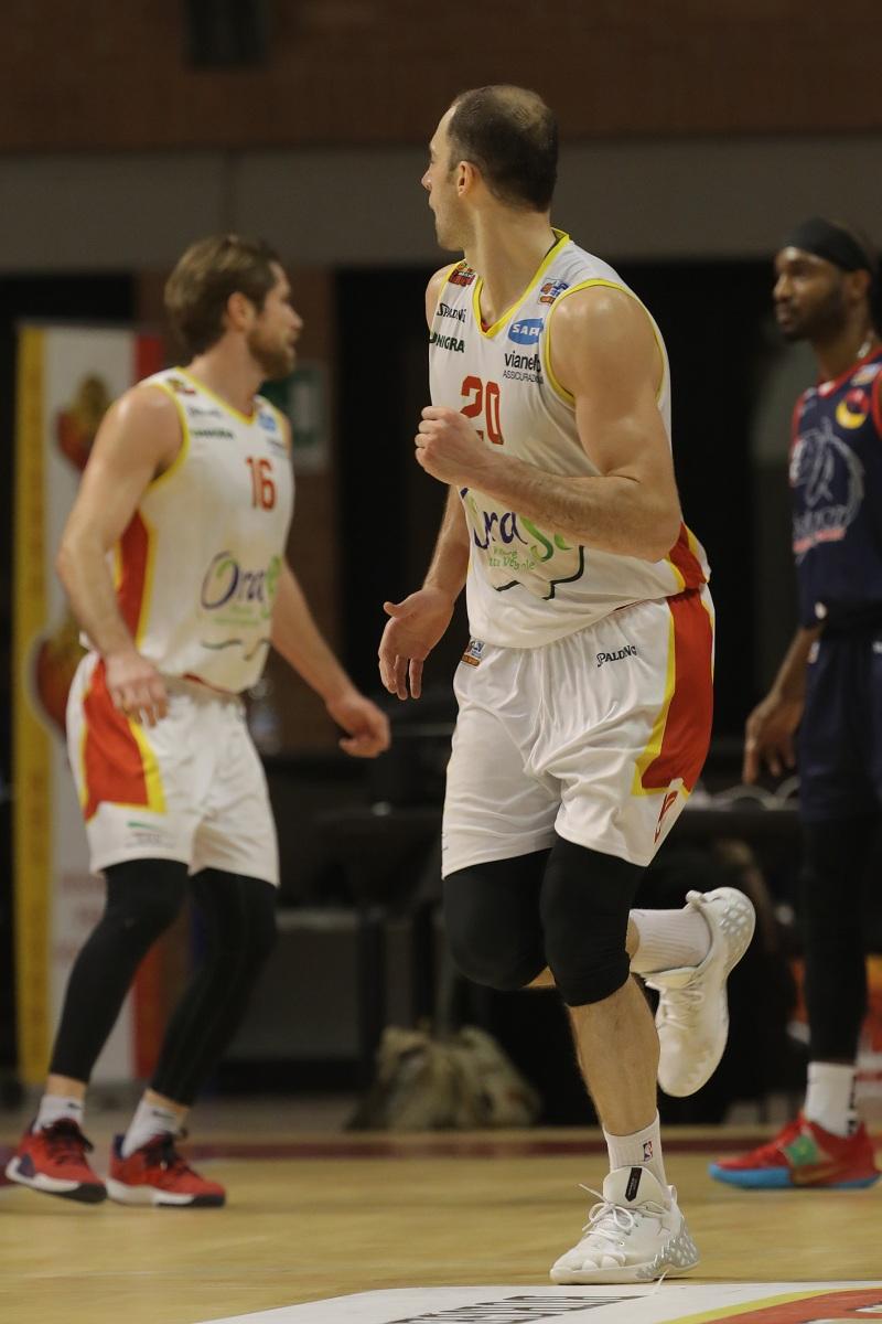 LNP serie A2 diciottesima giornata.  OraSì Basket Ravenna - UCC Assigeco Piacenza.