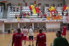 TIFOSI DELL' ORASI' BASKET a fine allenamento della squadra